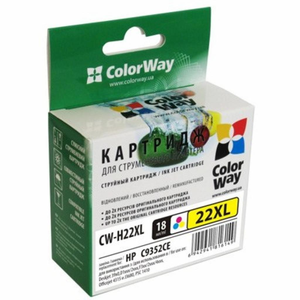 Картридж ColorWay HP №22XL Color (аналог C9352CE) (CW-H22XL)