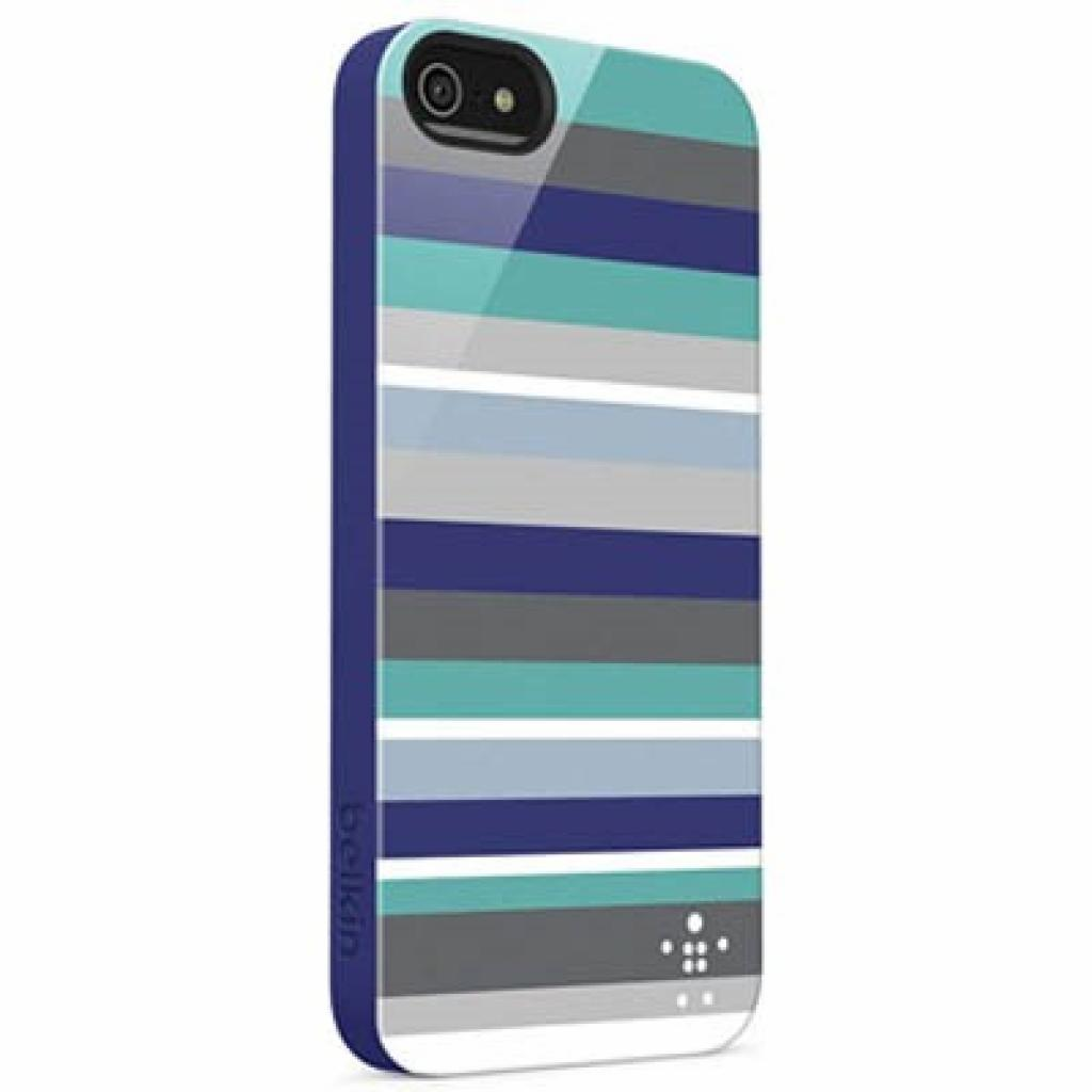 Чехол для моб. телефона Belkin iPhone 5/5s Shield Stripe blue (F8W124vfC01)