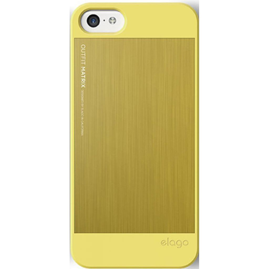 Чехол для моб. телефона ELAGO для iPhone 5C /Outfit MATRIX Aluminum/Yellow (ES5COFMX-YEYE-RT) изображение 3