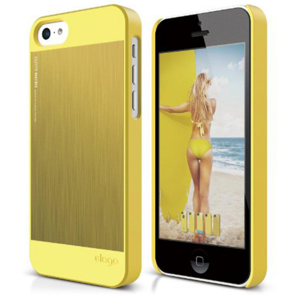 Чехол для моб. телефона ELAGO для iPhone 5C /Outfit MATRIX Aluminum/Yellow (ES5COFMX-YEYE-RT)