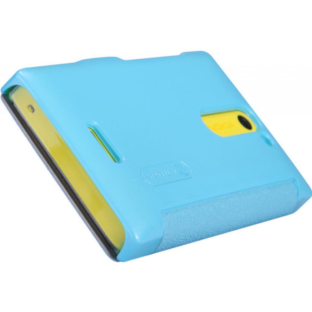 Чехол для моб. телефона NILLKIN для Nokia 502 /Fresh/ Leather/Blue (6120394) изображение 4