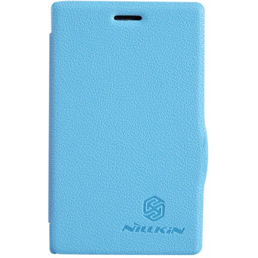 Чехол для моб. телефона NILLKIN для Nokia 502 /Fresh/ Leather/Blue (6120394)