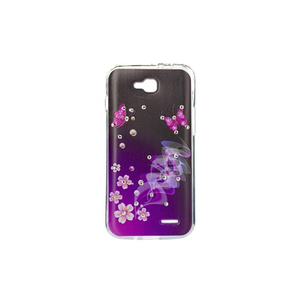 Чехол для моб. телефона для LG L90 (D405) (Violet/Black) Cristall PU Drobak (211599)