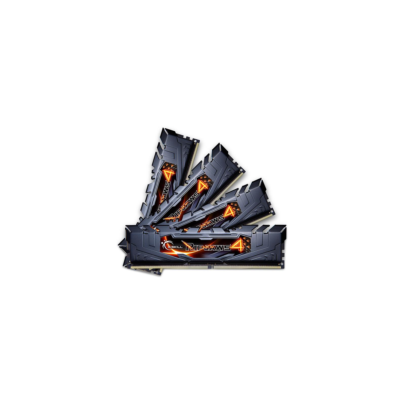 Модуль памяти для компьютера DDR4 16GB (4x4GB) 2400 MHz Ripjaws G.Skill (F4-2400C14Q-16GRK) изображение 2