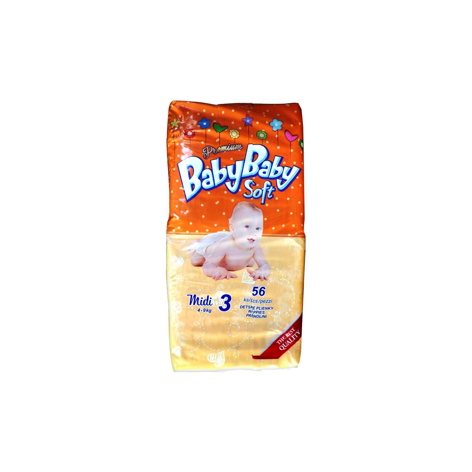 Подгузник BabyBaby Soft Premium Midi 3 (4-9 кг) 56 шт (8588004865556)