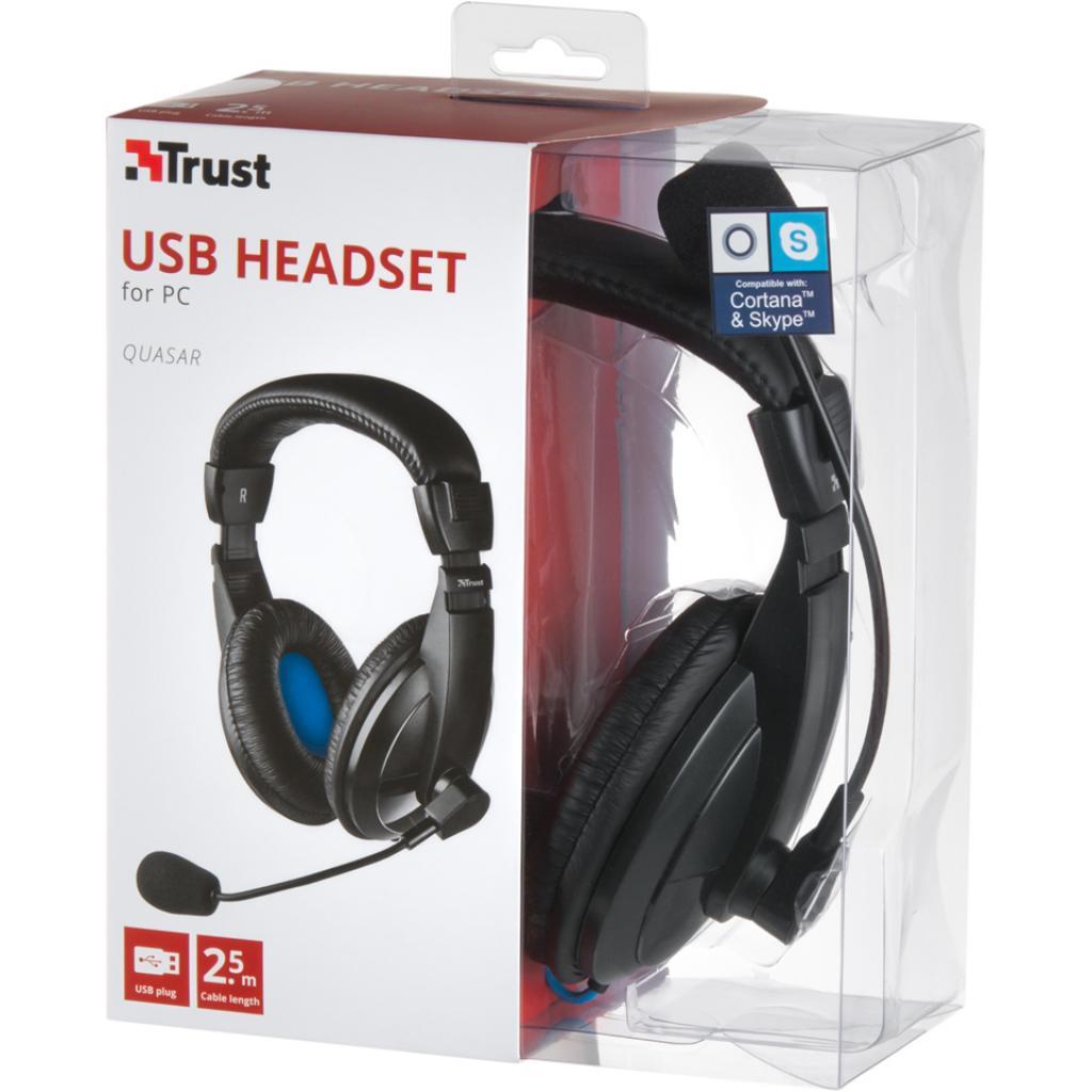 Наушники Trust Quasar USB Headset (16976) изображение 7