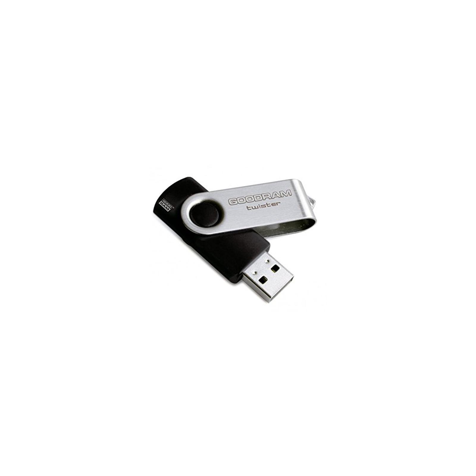 USB флеш накопитель GOODRAM 8GB Twister Black USB 2.0 (UTS2-0080K0R11) изображение 2