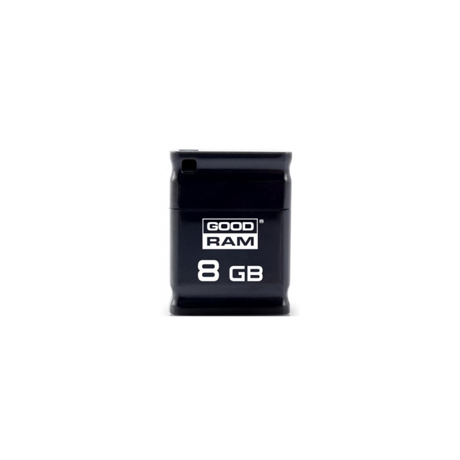 USB флеш накопитель GOODRAM 8GB Piccolo Black USB 2.0 (UPI2-0080K0R11)