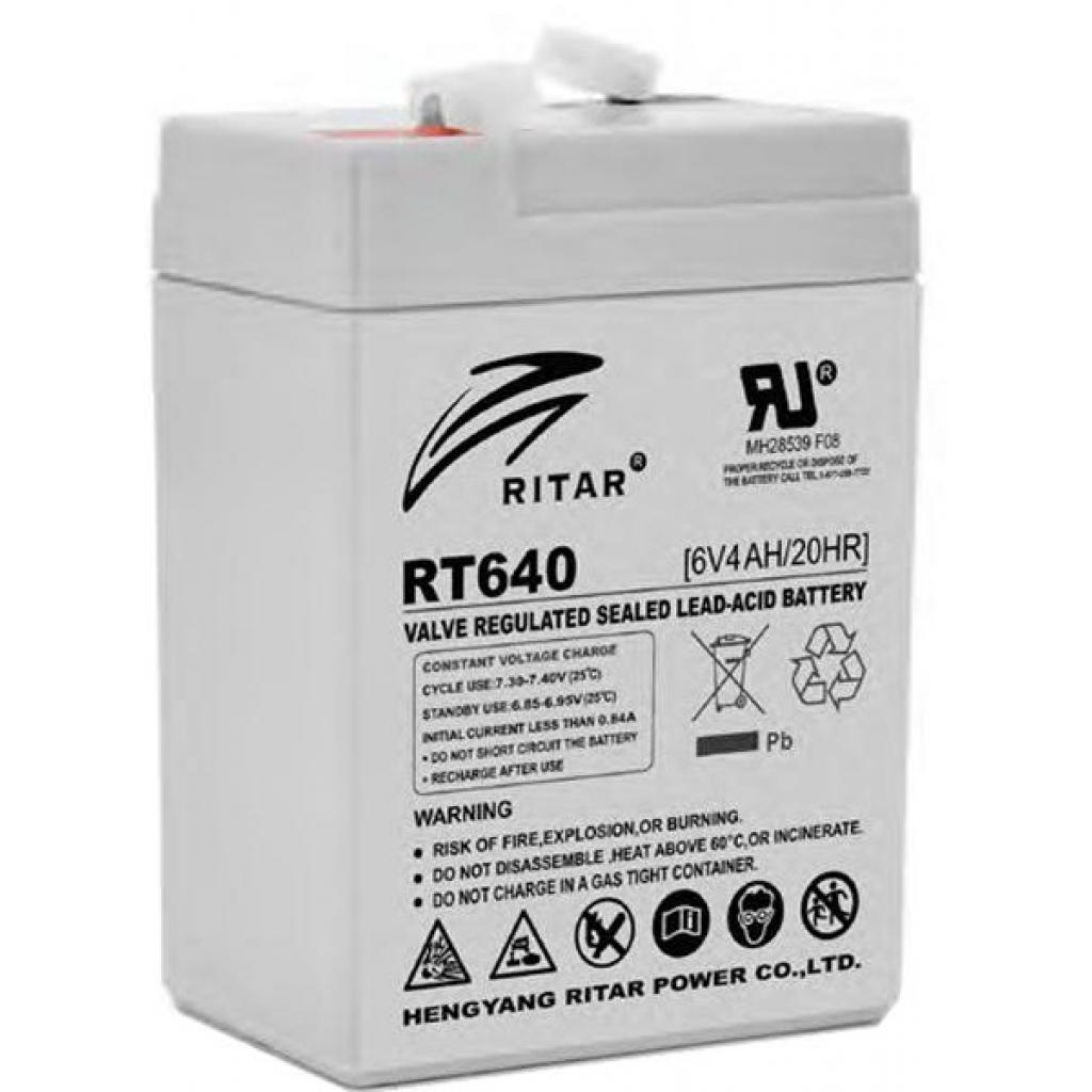 Батарея к ИБП Ritar AGM RT645, 6V-4Ah (RT640)
