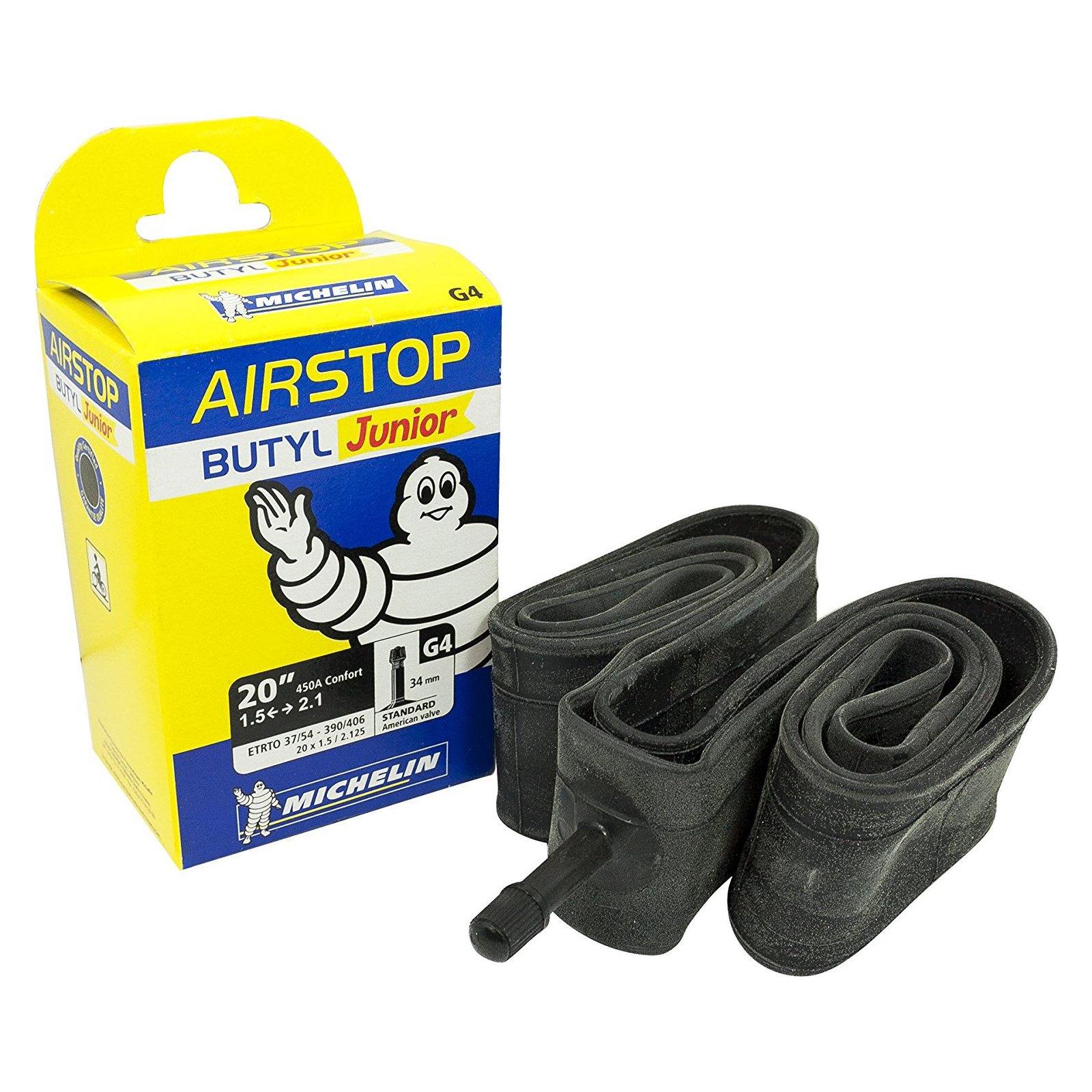 """Велосипедная камера Michelin G4 AIRSTOP, MTB 20"""" (37/54X390/406) ST (819653) изображение 2"""