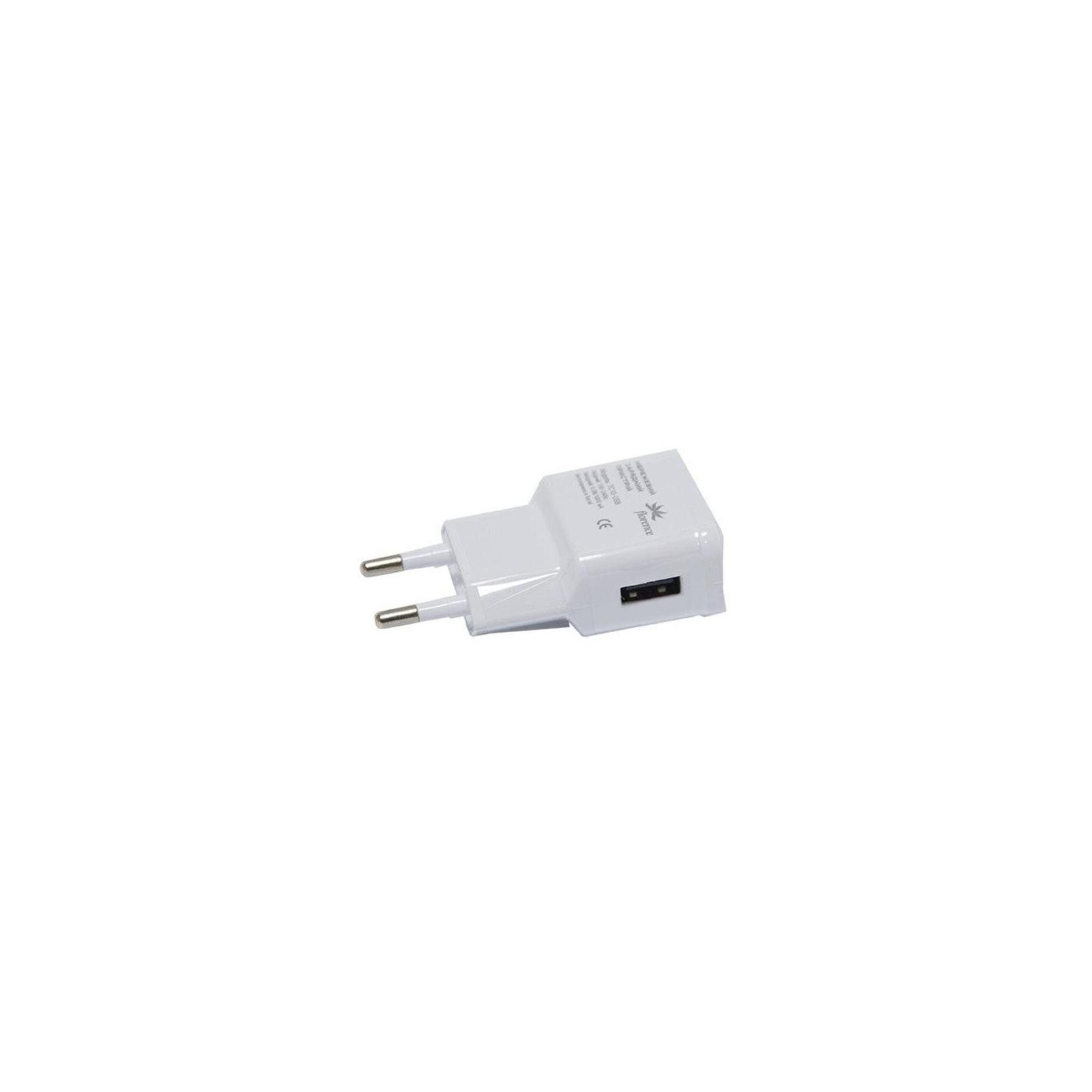 Зарядное устройство Florence USB, 1.0A white (TC10-USBWH)