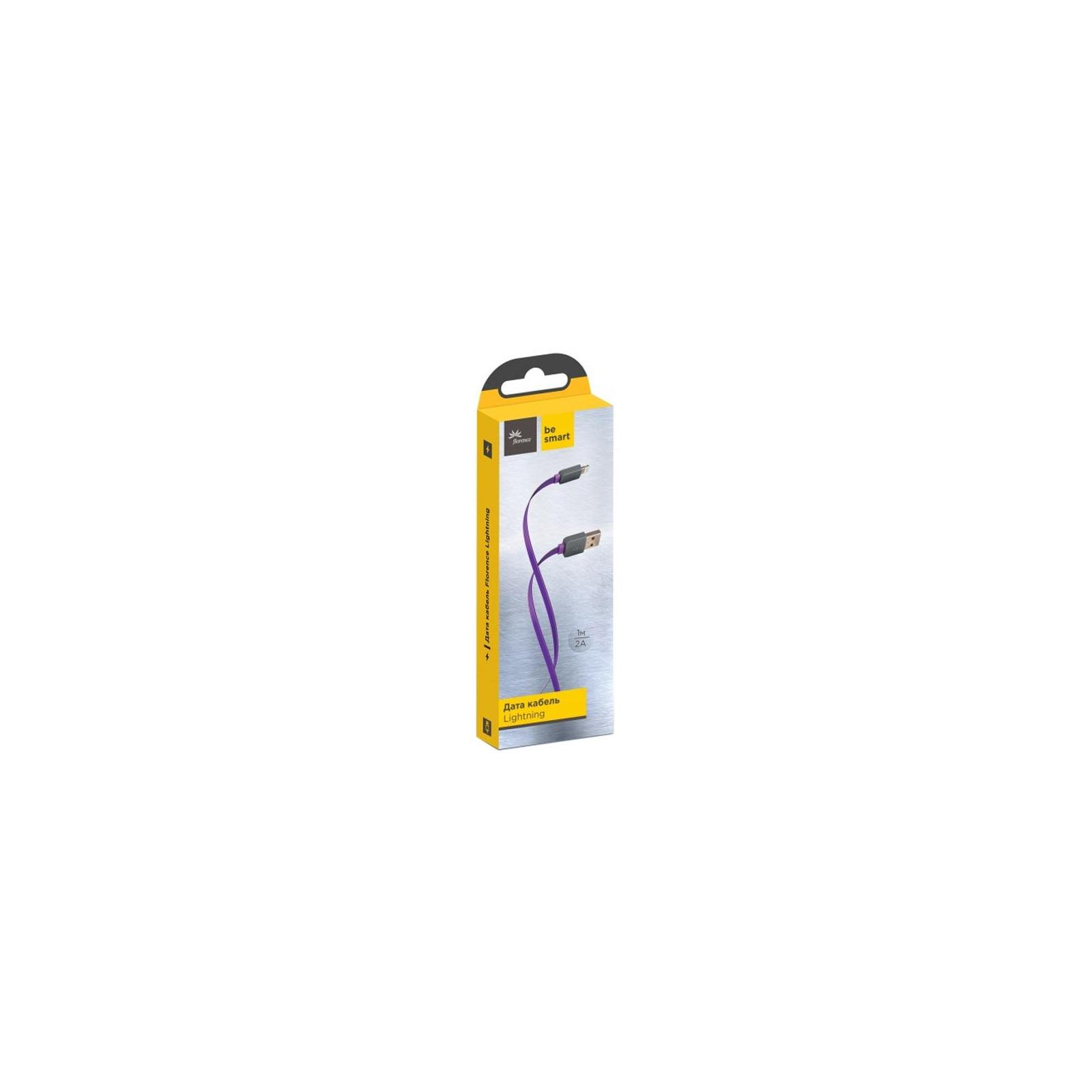Дата кабель USB 2.0 AM to Lightning 1.0m Color Purple Florence (FDC-L1-2P)
