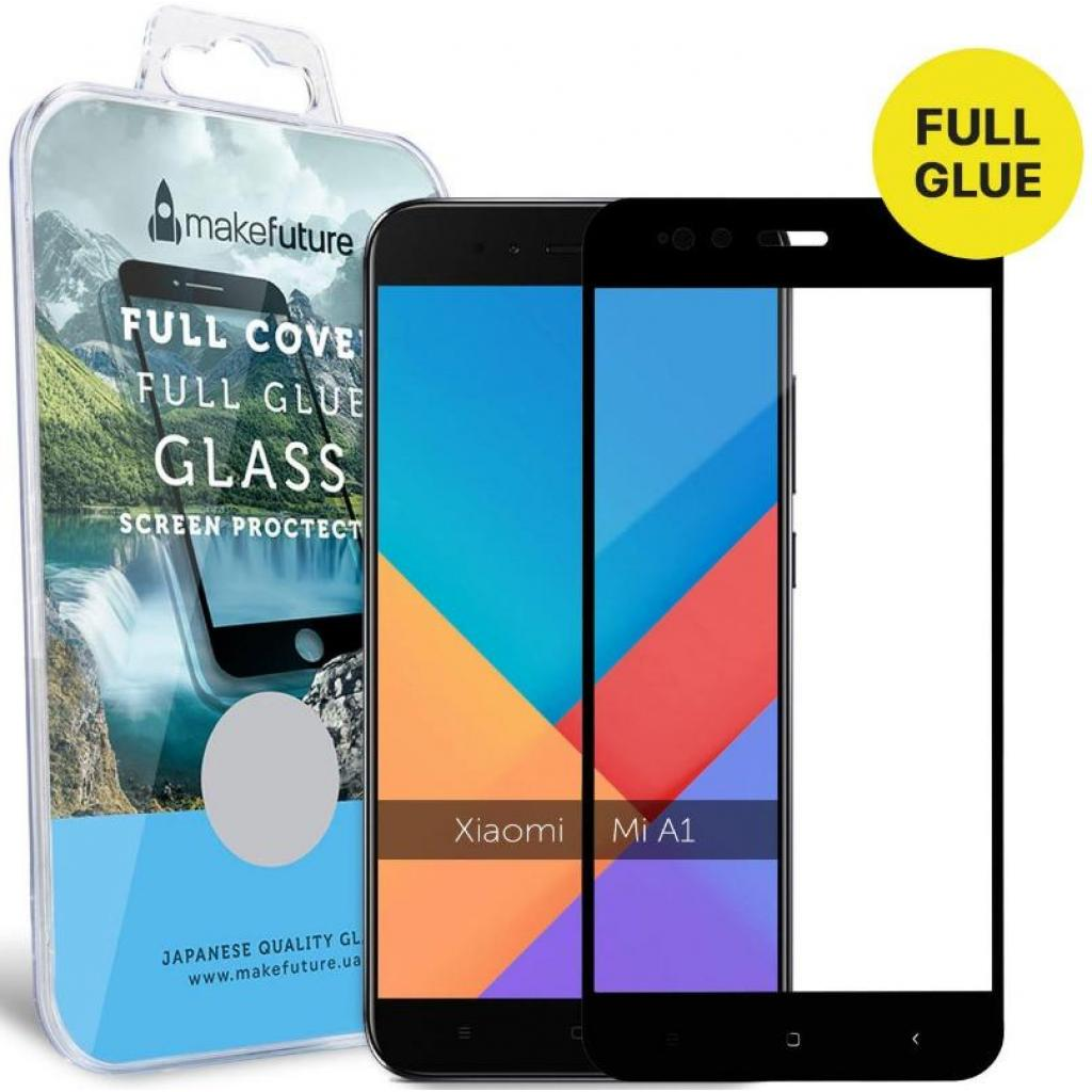 Стекло защитное MakeFuture для Xiaomi MiA1 Black Full Cover Full Glue (MGFCFG-XMA1B) изображение 5