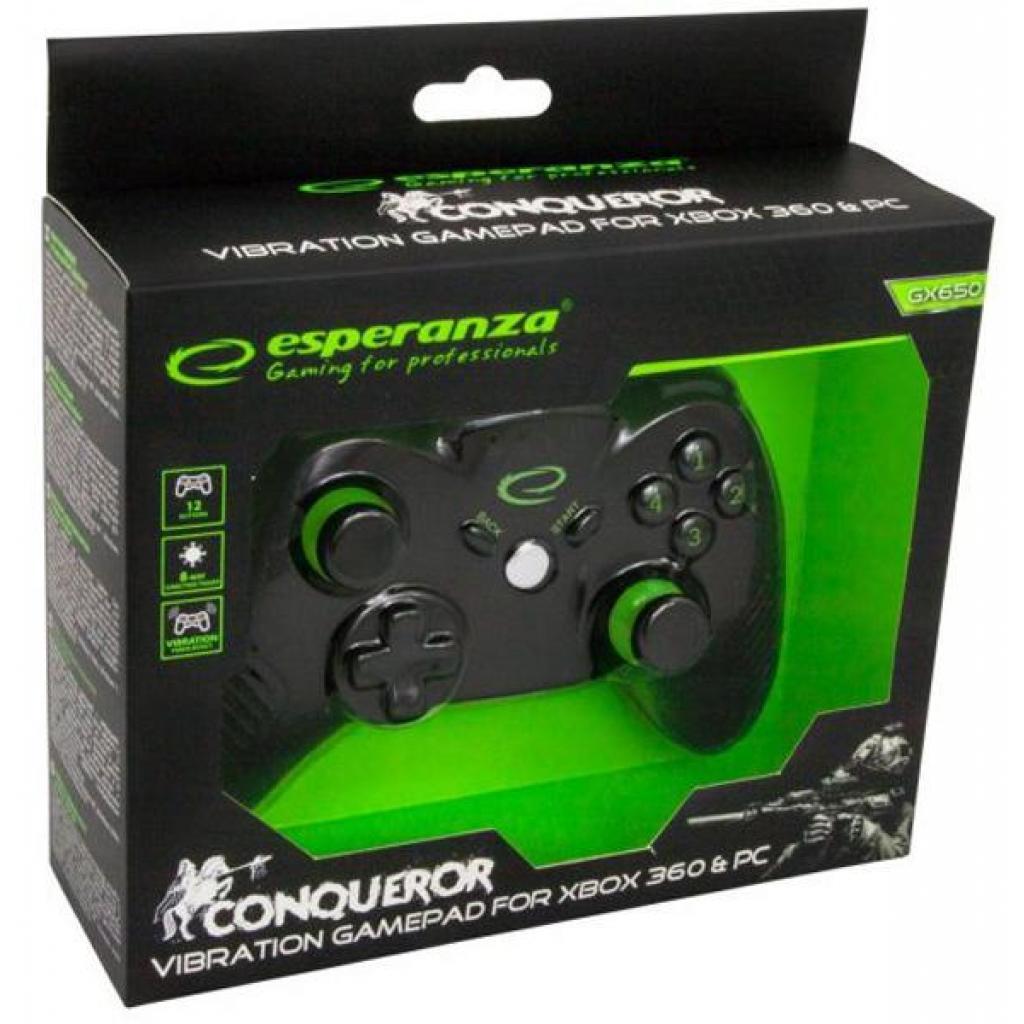 Геймпад Esperanza Conqueror PC/Xbox 360 Black (EGG113K) изображение 6