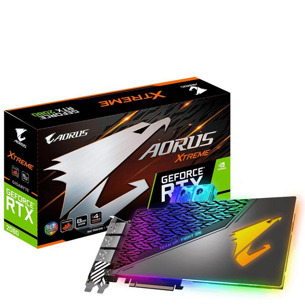 Видеокарта GIGABYTE GeForce RTX2080 8192Mb AORUS XTREME WATERFORCE WB (GV-N2080AORUSX WB-8GC)