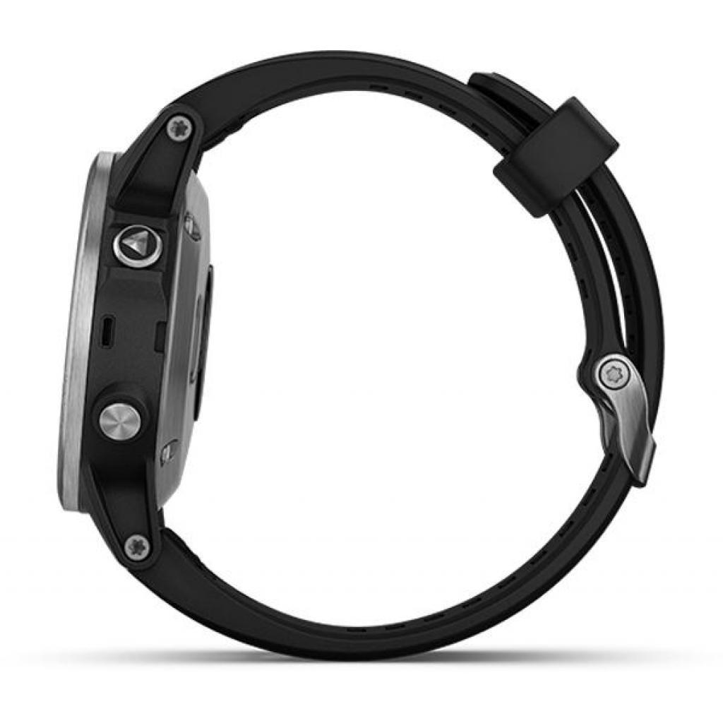 Смарт-часы Garmin Fenix 5 Plus Silver with Black Silicone (010-01988-60) изображение 2