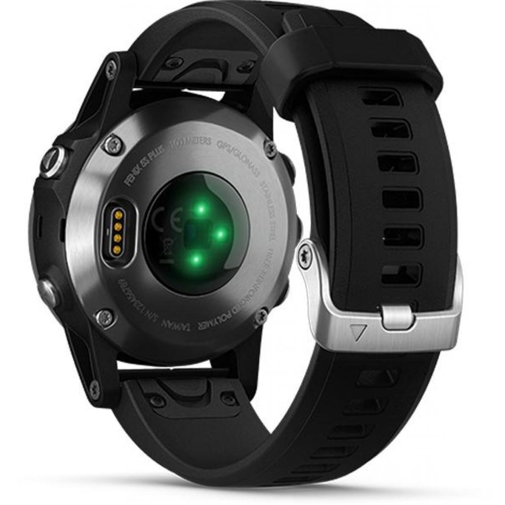 Смарт-часы Garmin Fenix 5 Plus Silver with Black Silicone (010-01988-60) изображение 3