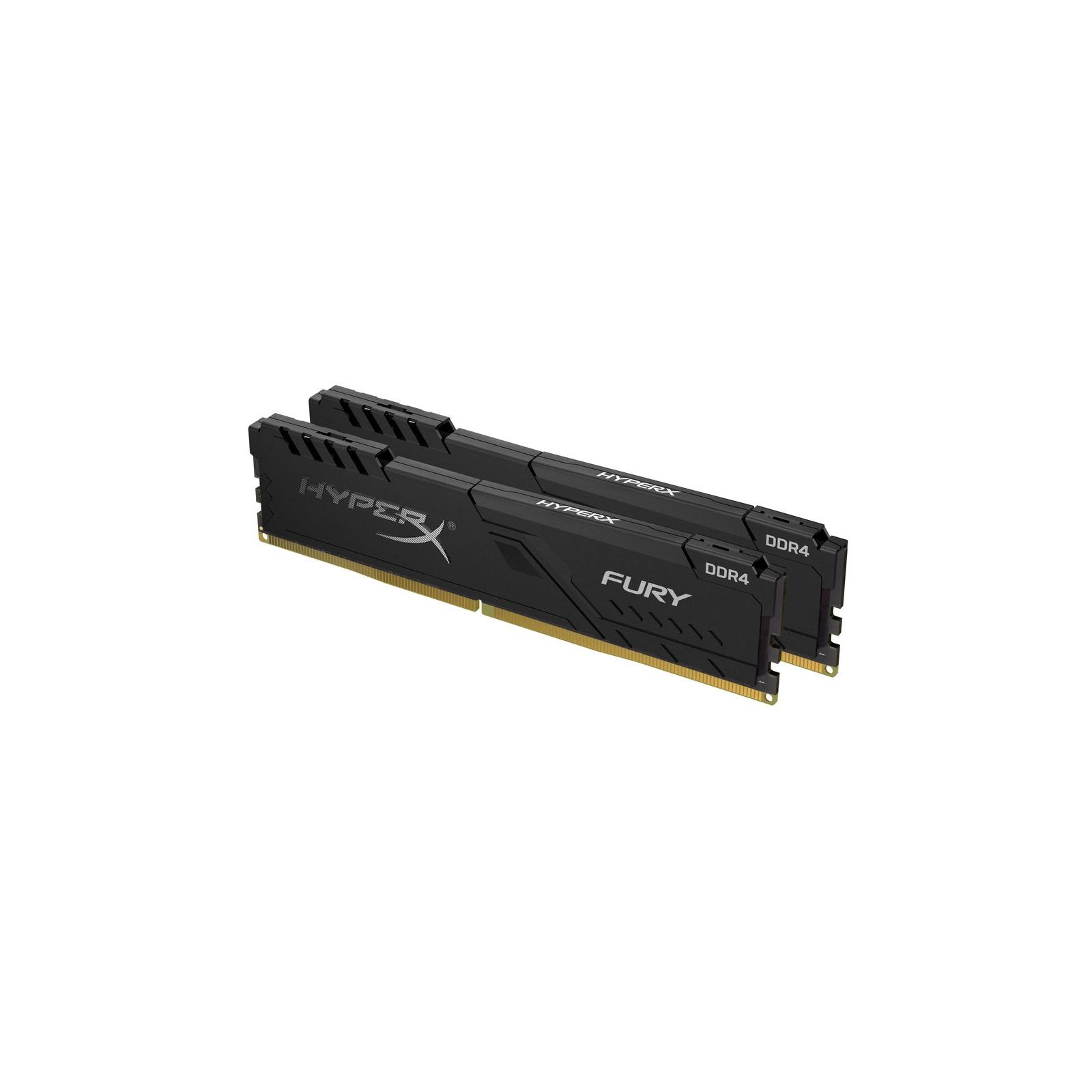 Модуль памяти для компьютера DDR4 8GB (2x4GB) 3200 MHz HyperX Fury Black HyperX (Kingston Fury) (HX432C16FB3K2/8) изображение 3