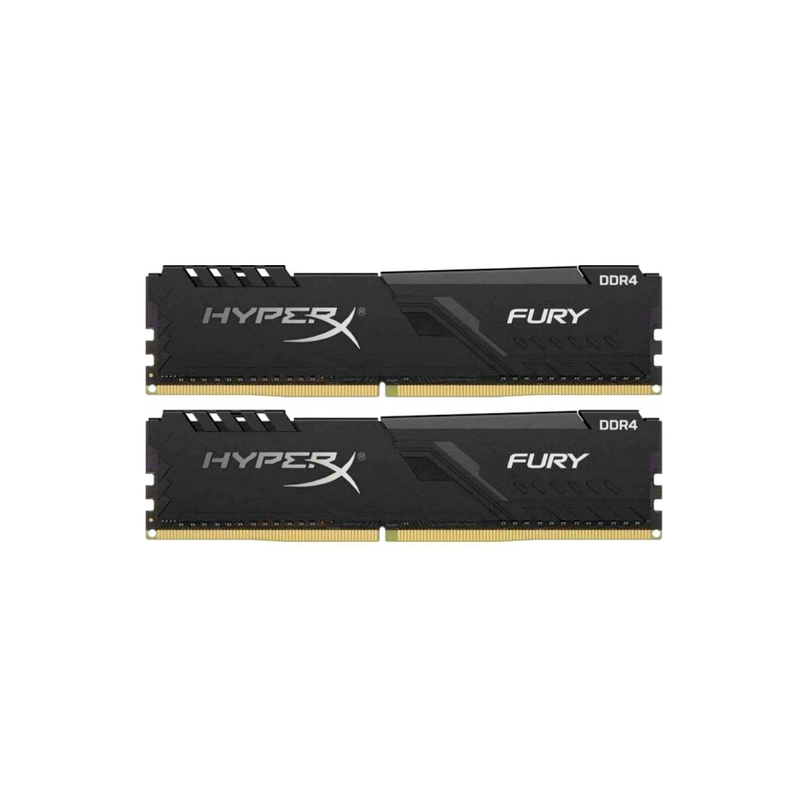 Модуль памяти для компьютера DDR4 8GB (2x4GB) 3200 MHz HyperX Fury Black HyperX (Kingston Fury) (HX432C16FB3K2/8)