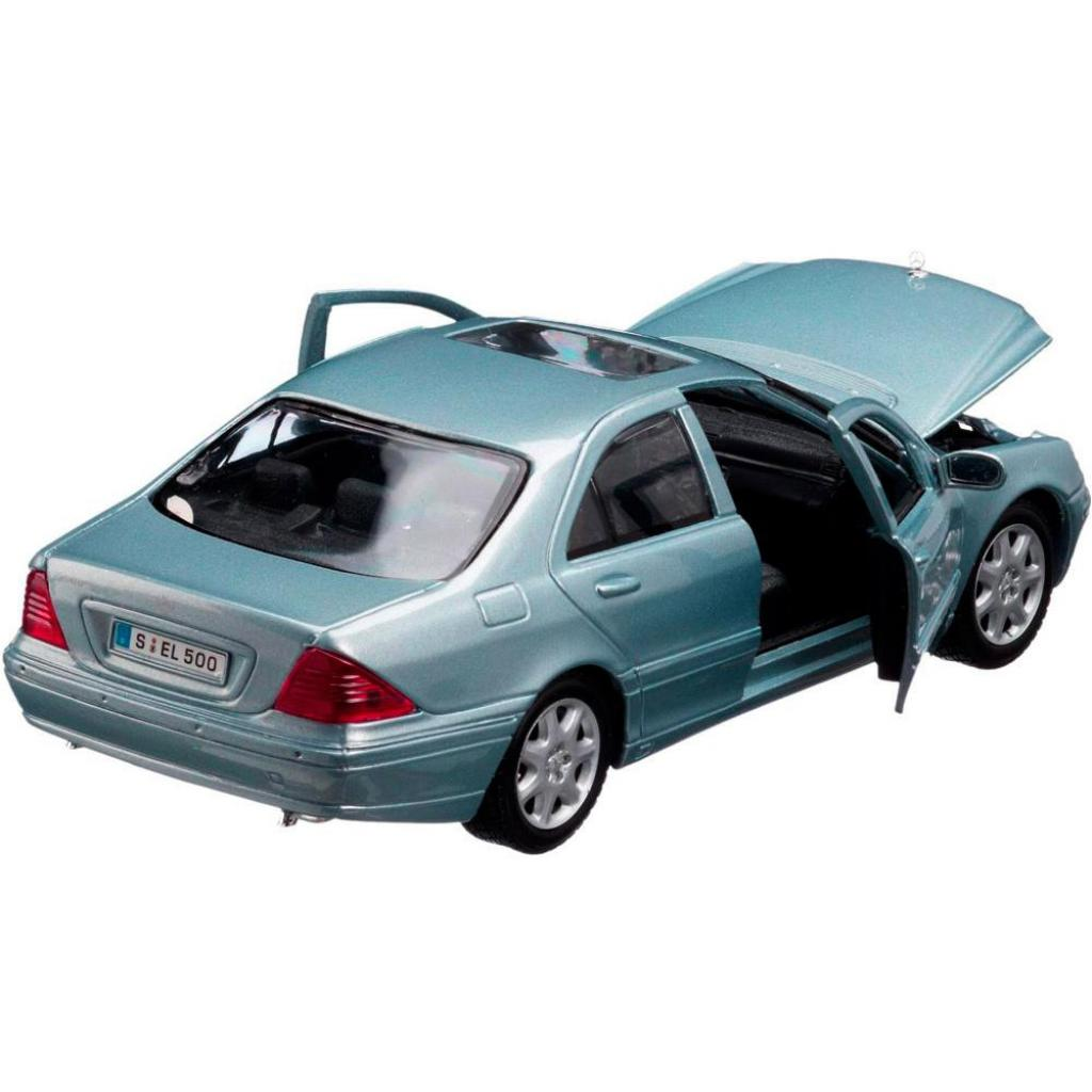 Машина Maisto Mercedes-Benz S-Class 2002 (1:26) серебристо-синий (31955 silver blue) изображение 2