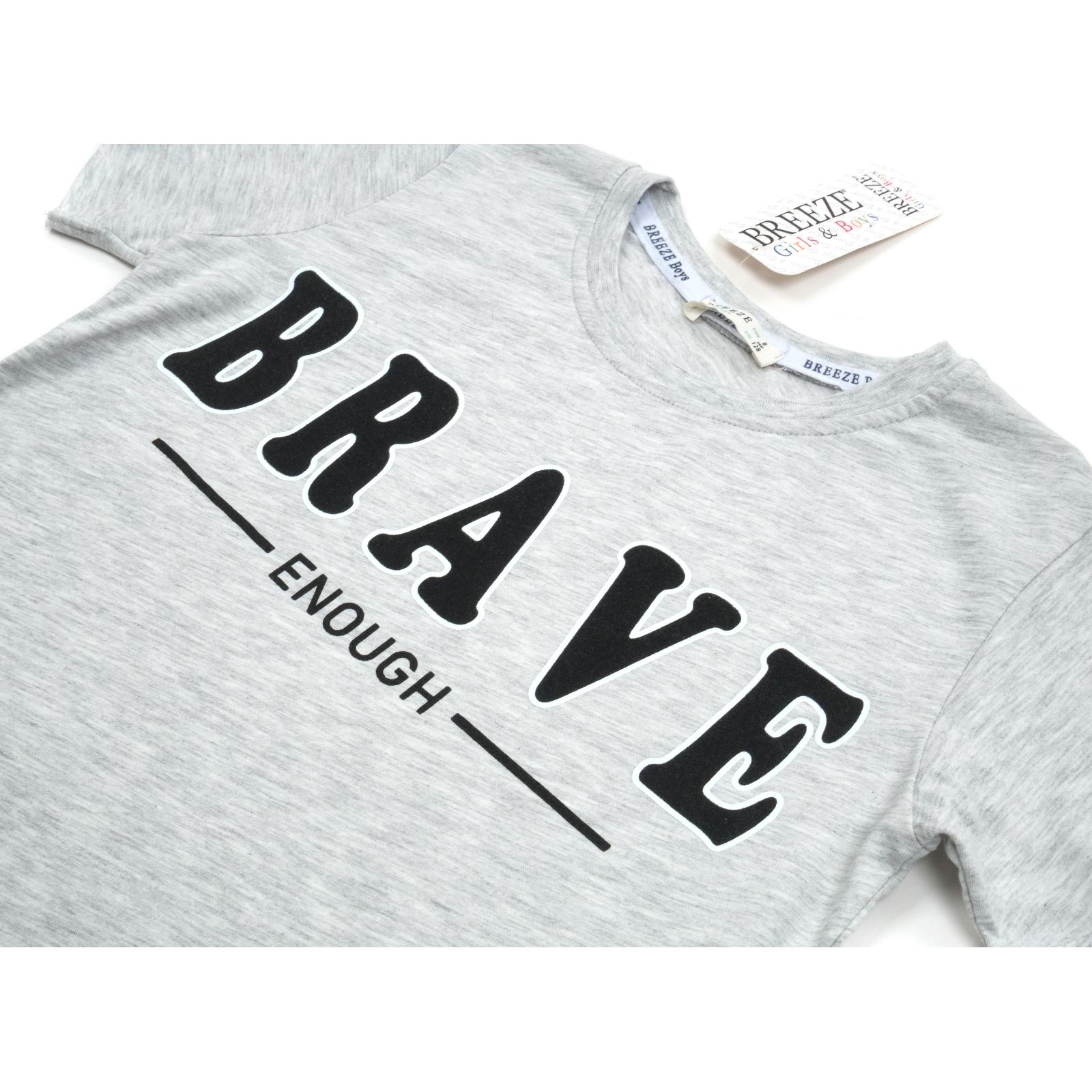 """Футболка детская Breeze """"BRAVE"""" (14351-140B-gray) изображение 3"""