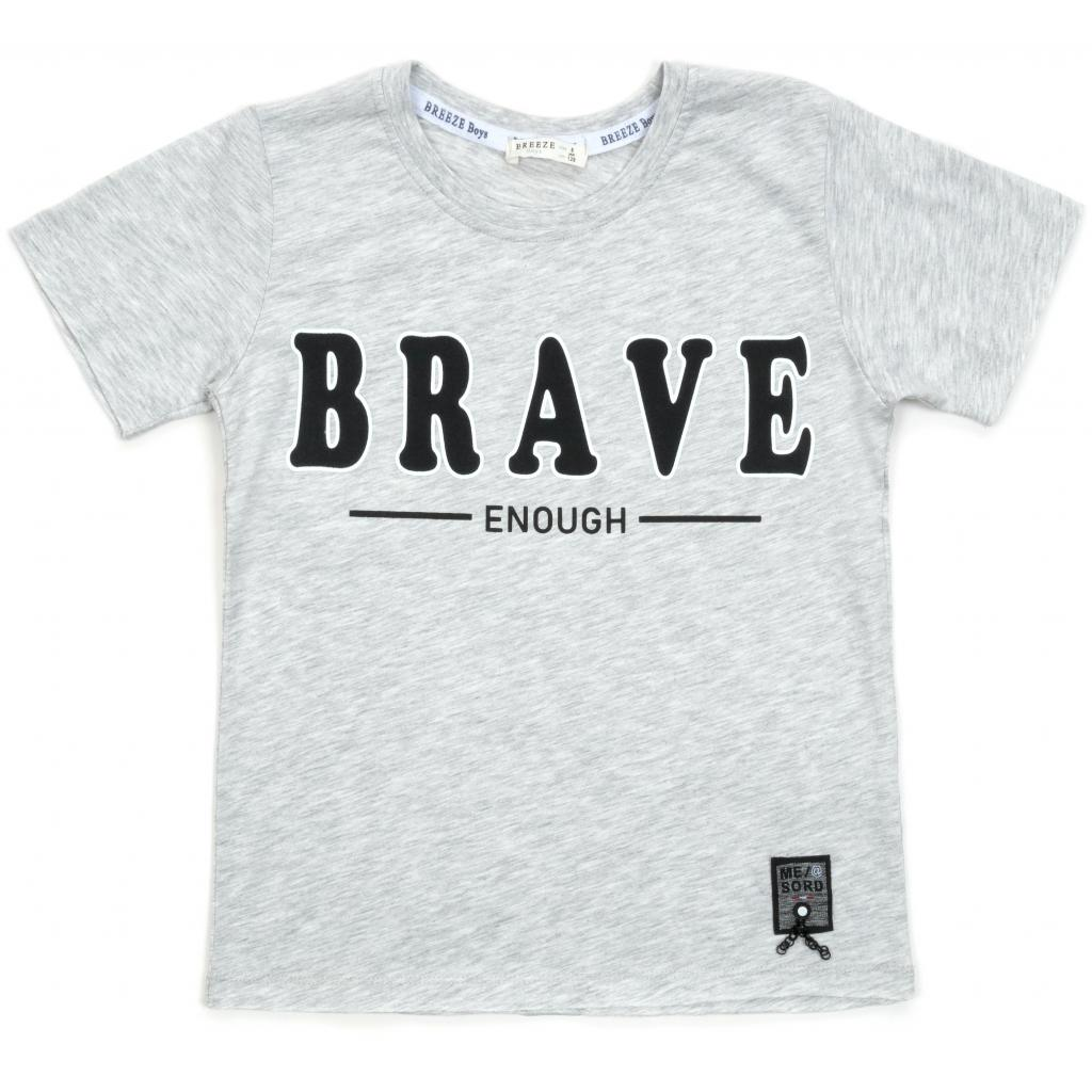 "Футболка детская Breeze ""BRAVE"" (14351-140B-gray)"