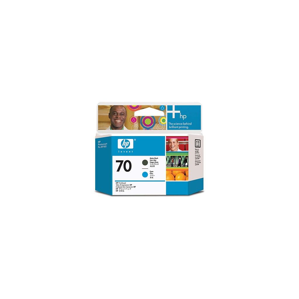 Печатающая головка HP No.70 Matte Black and Cyan (C9404A)