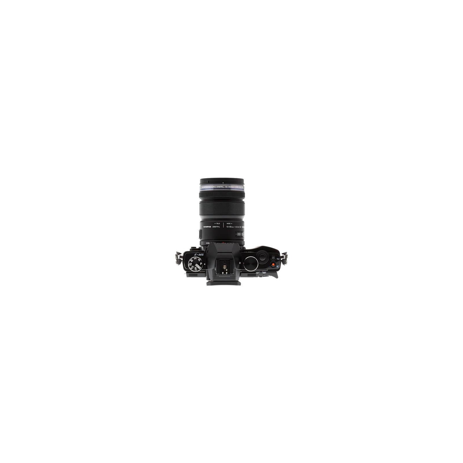 Цифровой фотоаппарат OLYMPUS OM-D E-M5 12-50 kit black/black (V204045BE000) изображение 3