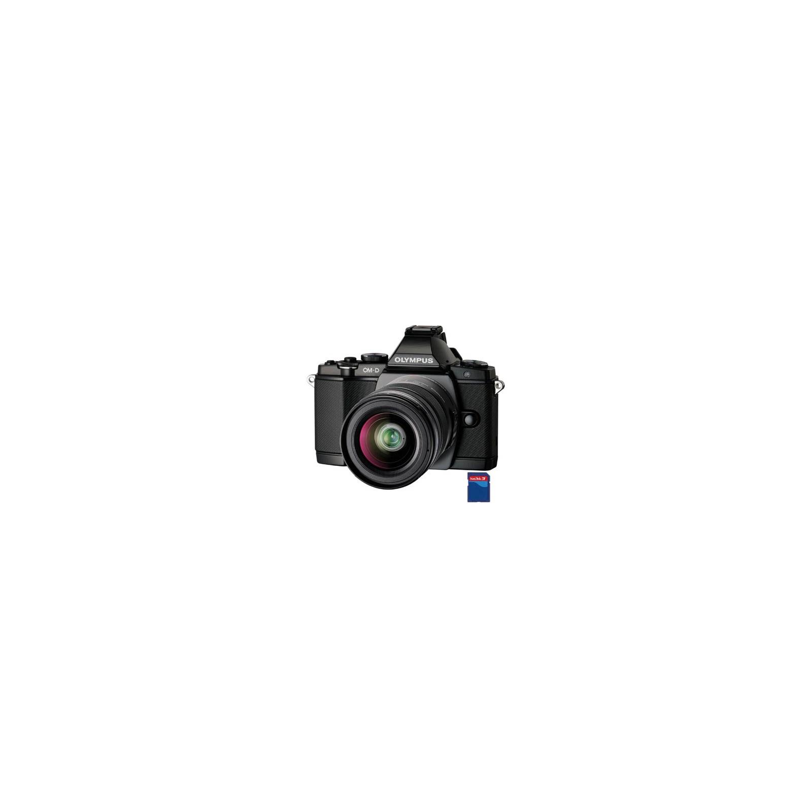 Цифровой фотоаппарат OLYMPUS OM-D E-M5 12-50 kit black/black (V204045BE000)