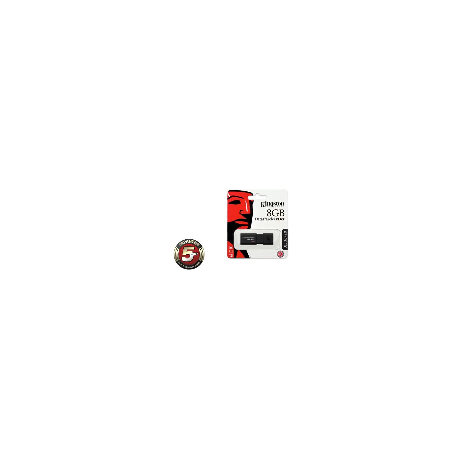 USB флеш накопитель Kingston 32Gb DataTraveler 100 Generation 3 USB3.0 (DT100G3/32GB) изображение 3