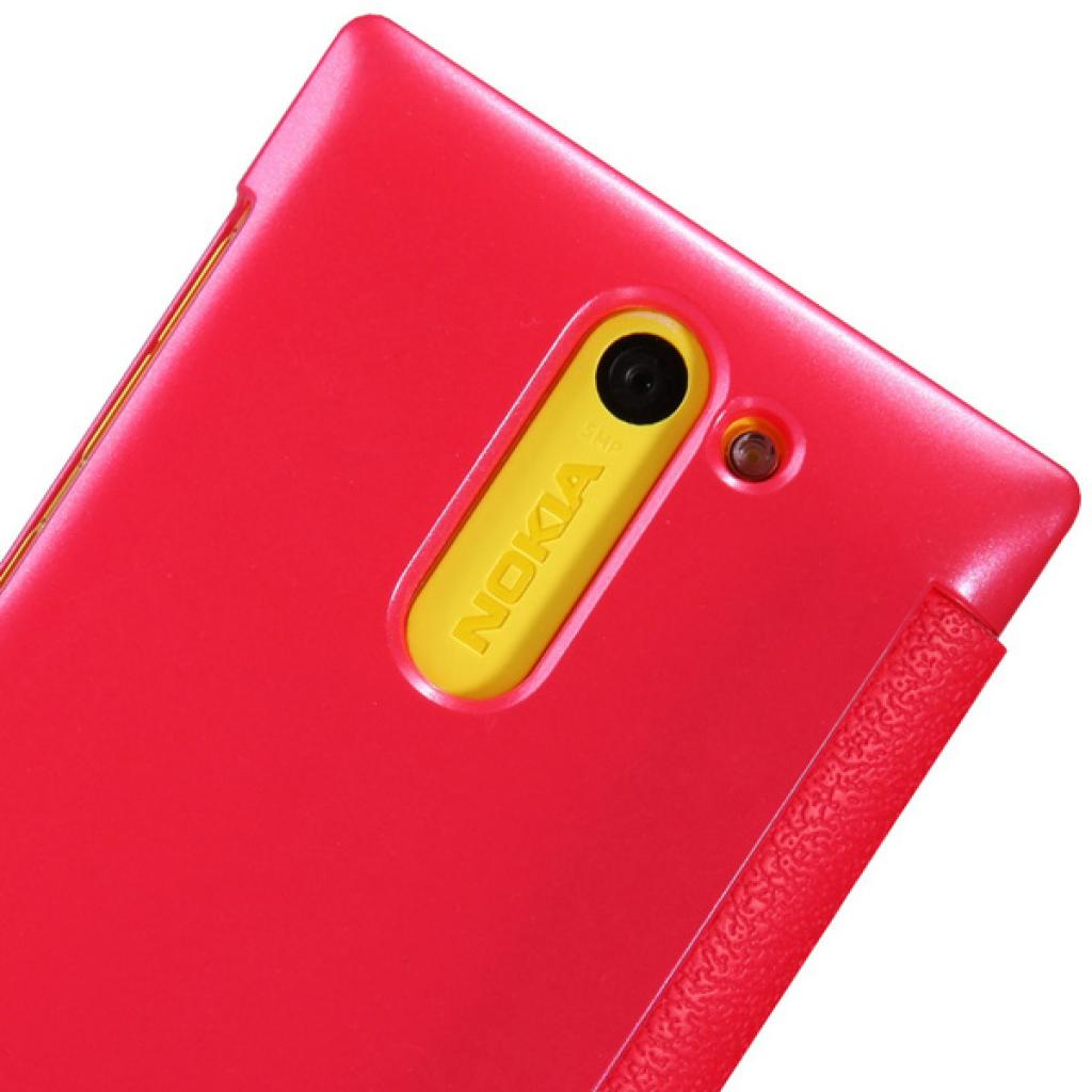 Чехол для моб. телефона NILLKIN для Nokia 502 /Fresh/ Leather/Red (6120393) изображение 5