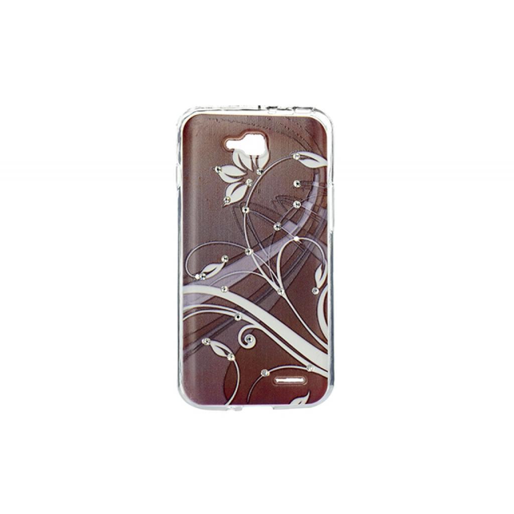 Чехол для моб. телефона для LG L90 (D405) (Brown) Cristall PU Drobak (215504)