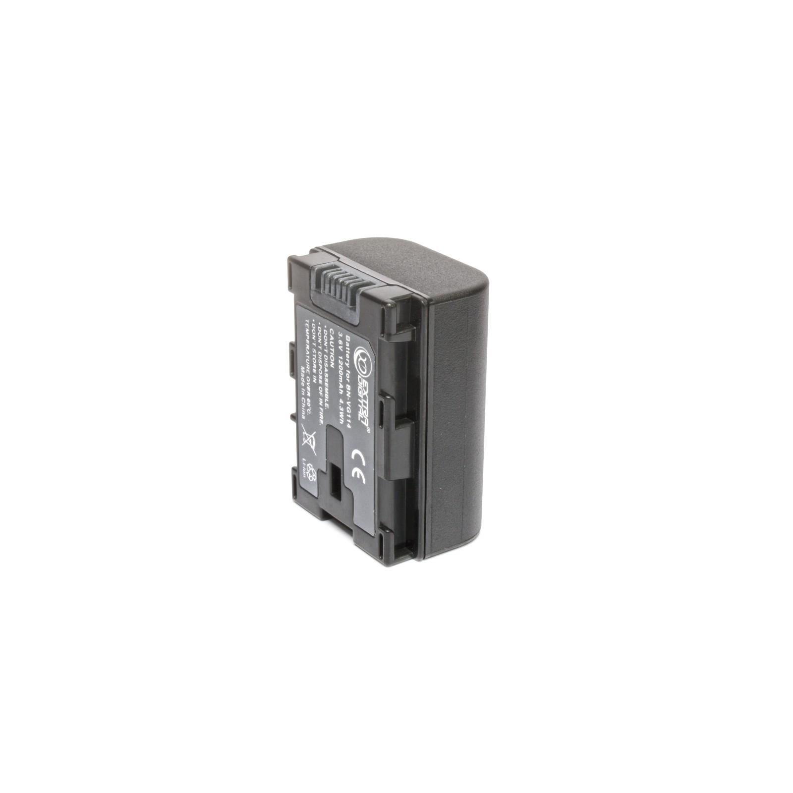 Аккумулятор к фото/видео EXTRADIGITAL JVC BN-VG114 (chip) (BDJ1310) изображение 2