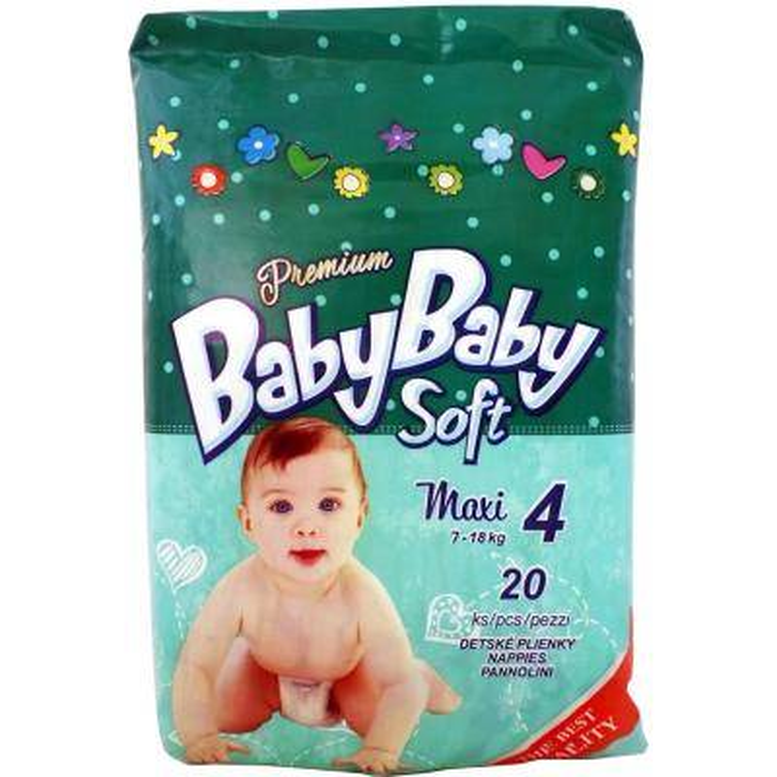 Подгузник BabyBaby Soft Premium Maxi 4 (7-18 кг) 20 шт (8588004865525)