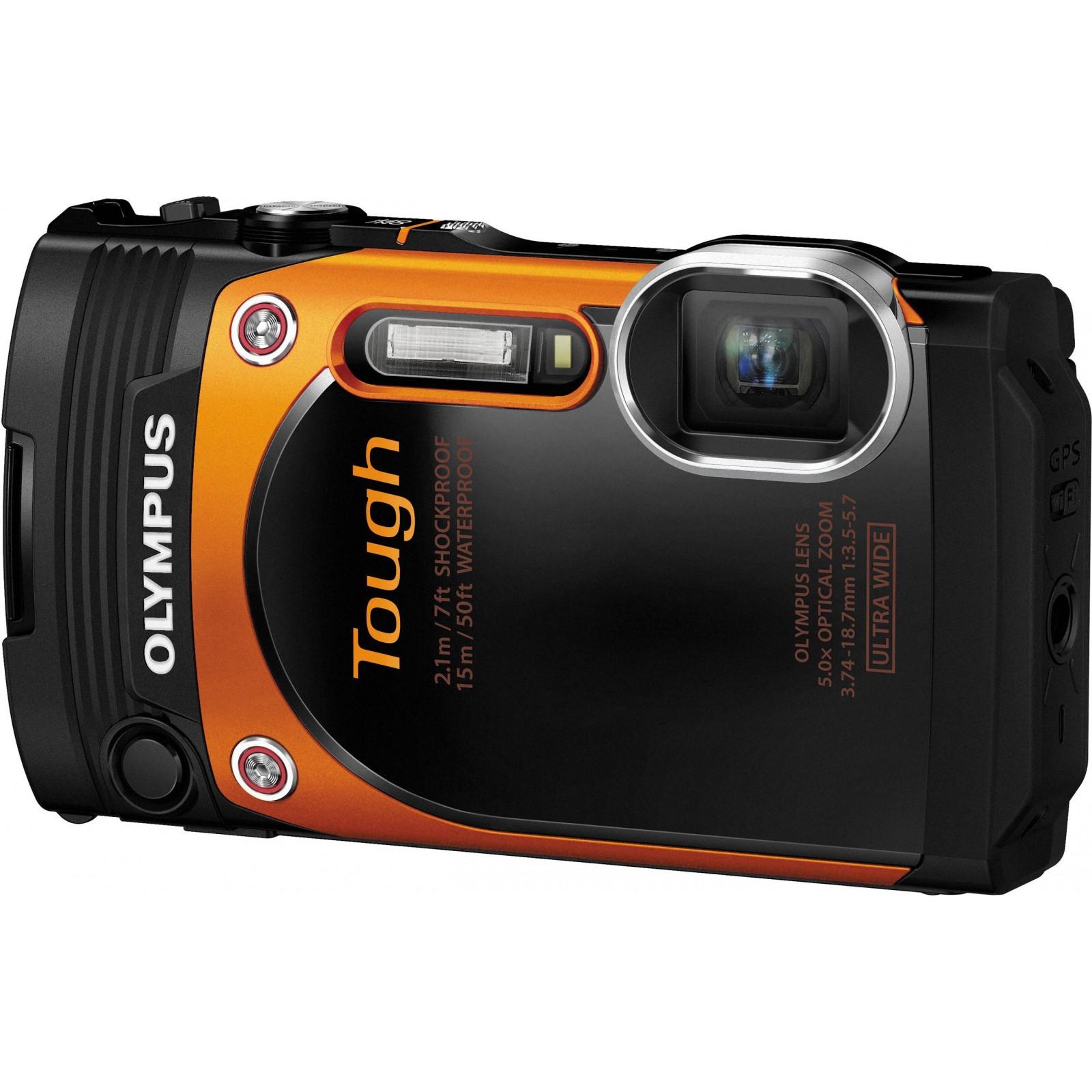 Цифровой фотоаппарат OLYMPUS TG-860 Orange (Waterproof - 15m; iHS; Wi-Fi) (V104170OE000)