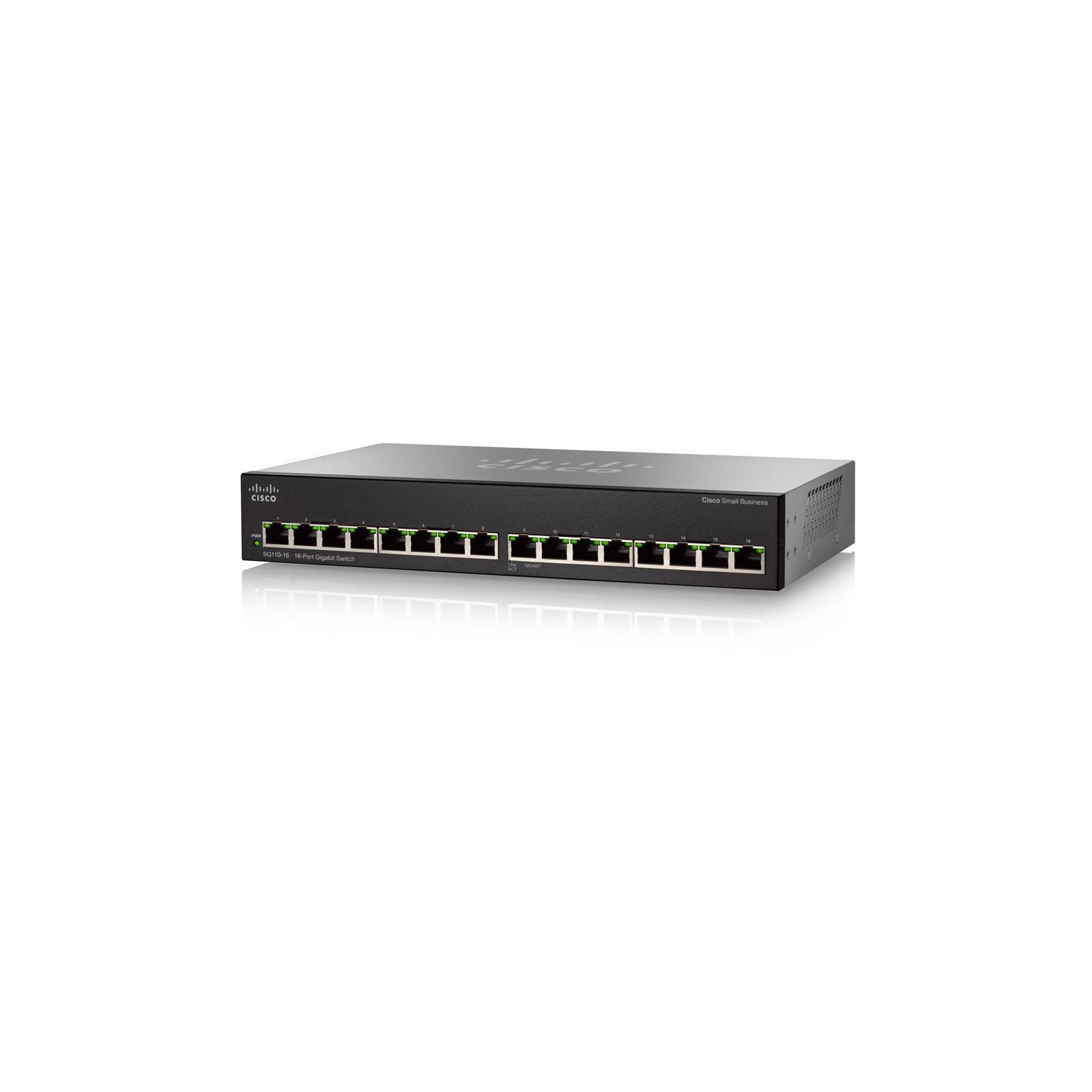 Коммутатор сетевой Cisco SG110-16-EU изображение 3