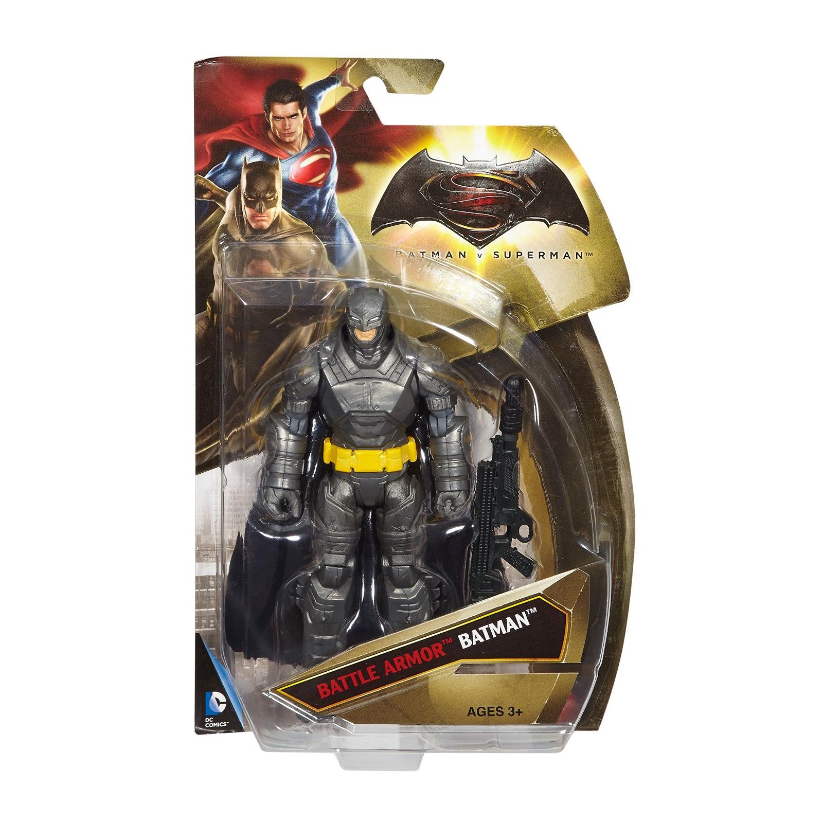 Фигурка Mattel Batman вооруженный 15 см Бэтмен против Супермена (DJG32) изображение 5