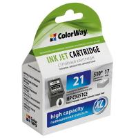 Картридж ColorWay HP №21XL black (C9351CE) ink level (CW-H21XL-I)