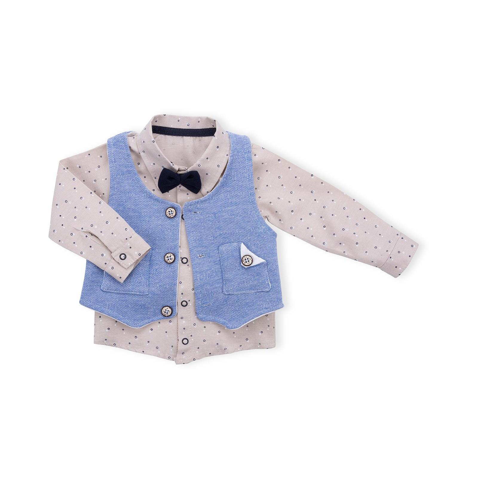 Набор детской одежды Necix's тройка с жилетом (9082-12B-blue) изображение 2
