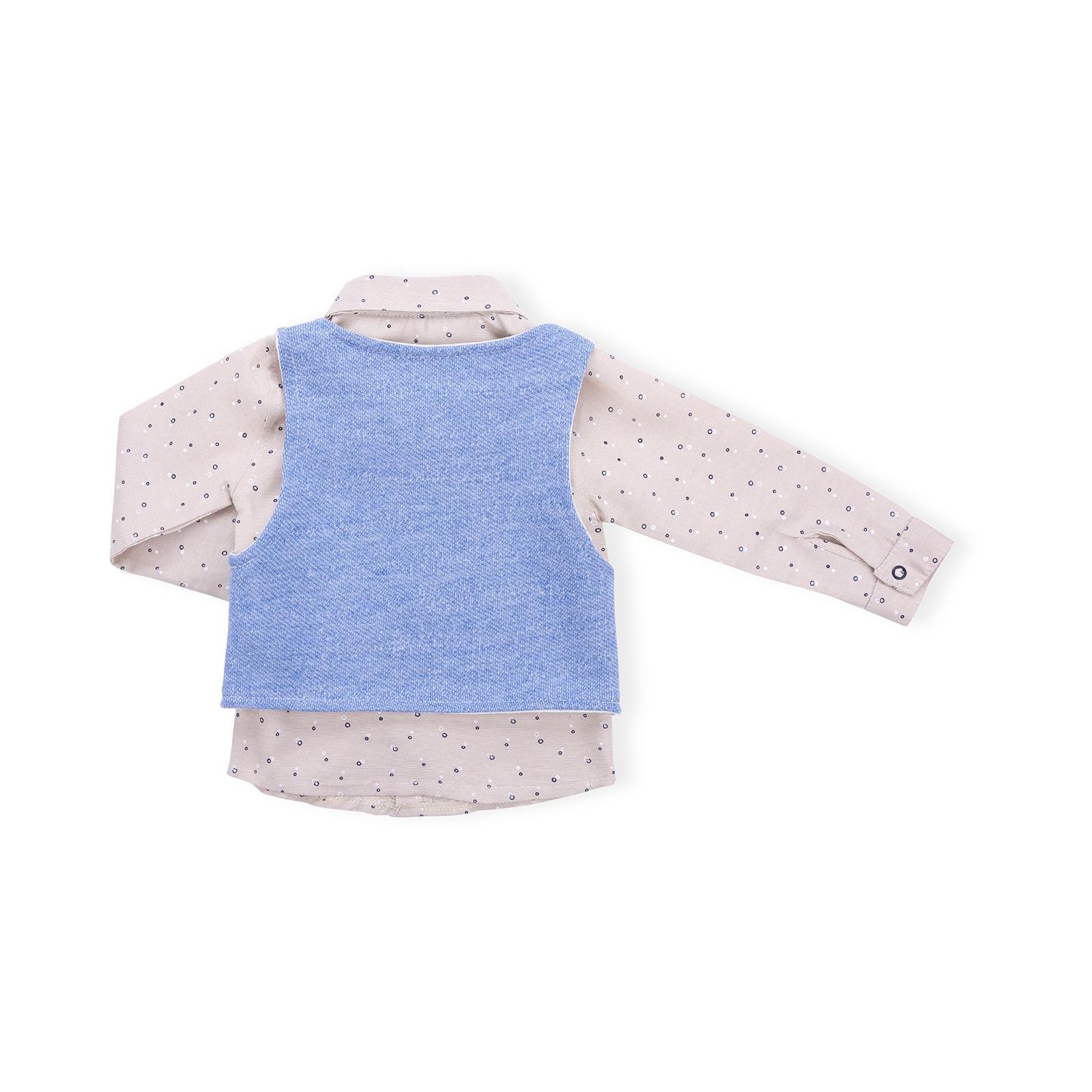 Набор детской одежды Necix's тройка с жилетом (9082-12B-blue) изображение 3