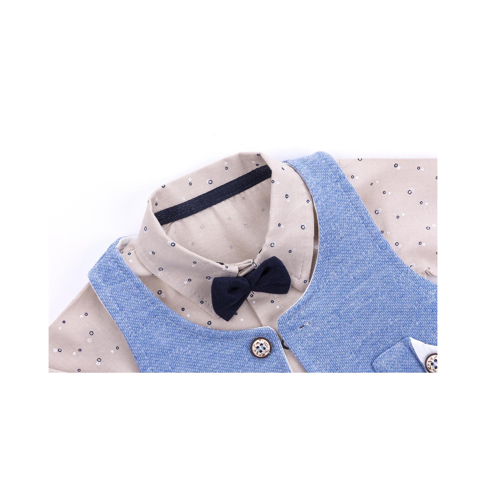 Набор детской одежды Necix's тройка с жилетом (9082-12B-blue) изображение 5