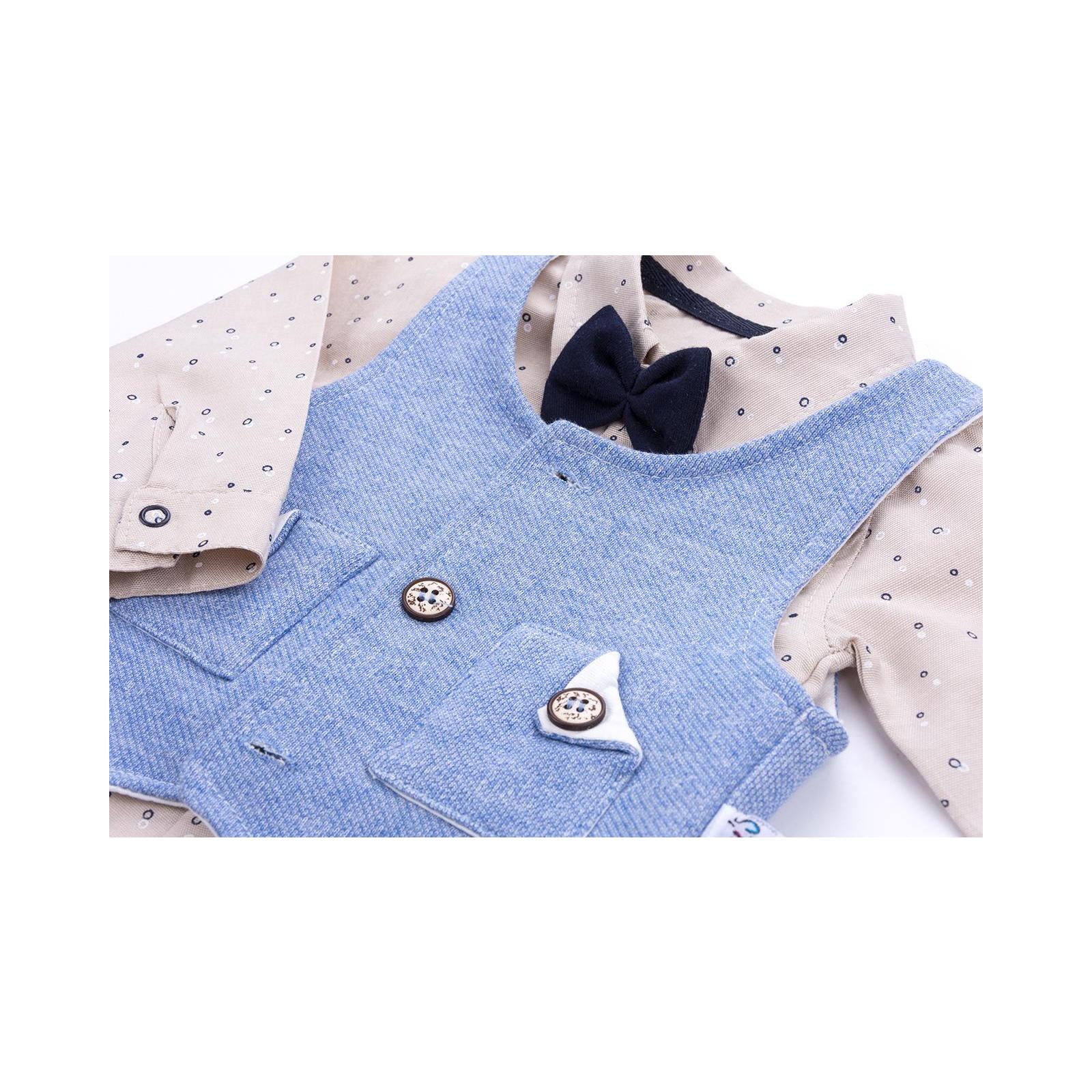 Набор детской одежды Necix's тройка с жилетом (9082-12B-blue) изображение 8