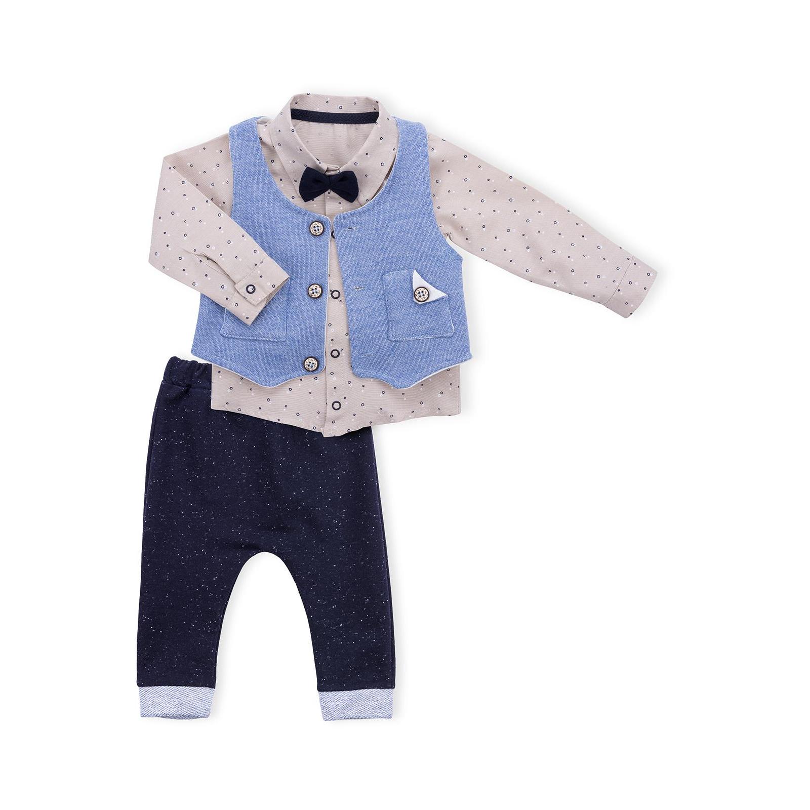 Набор детской одежды Necix's тройка с жилетом (9082-12B-blue)