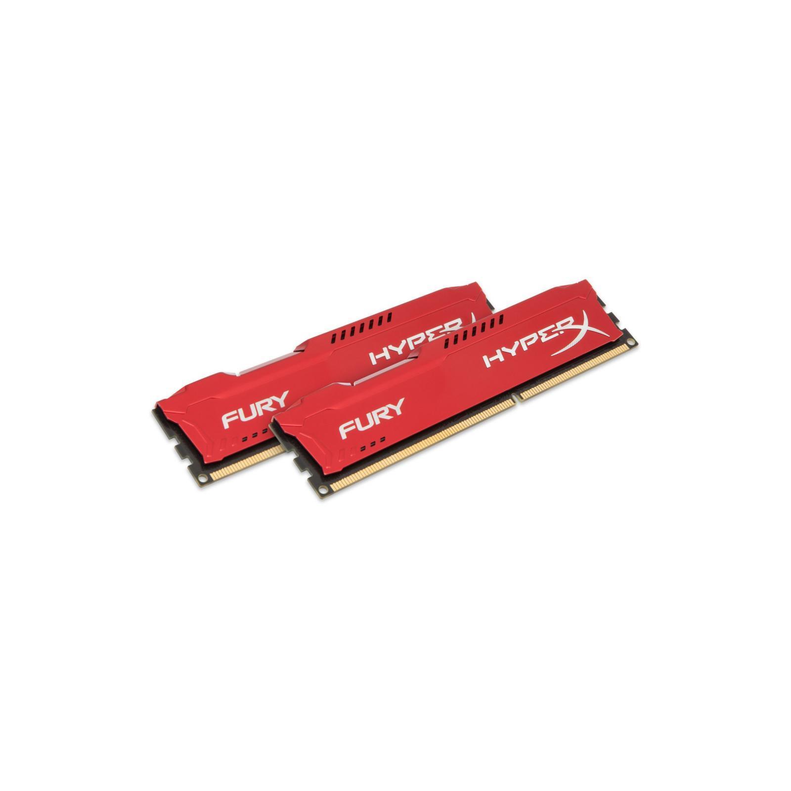 Модуль памяти для компьютера DDR4 16GB (2x8GB) 3200 MHz HyperX FURY Red HyperX (Kingston Fury) (HX432C18FR2K2/16) изображение 2