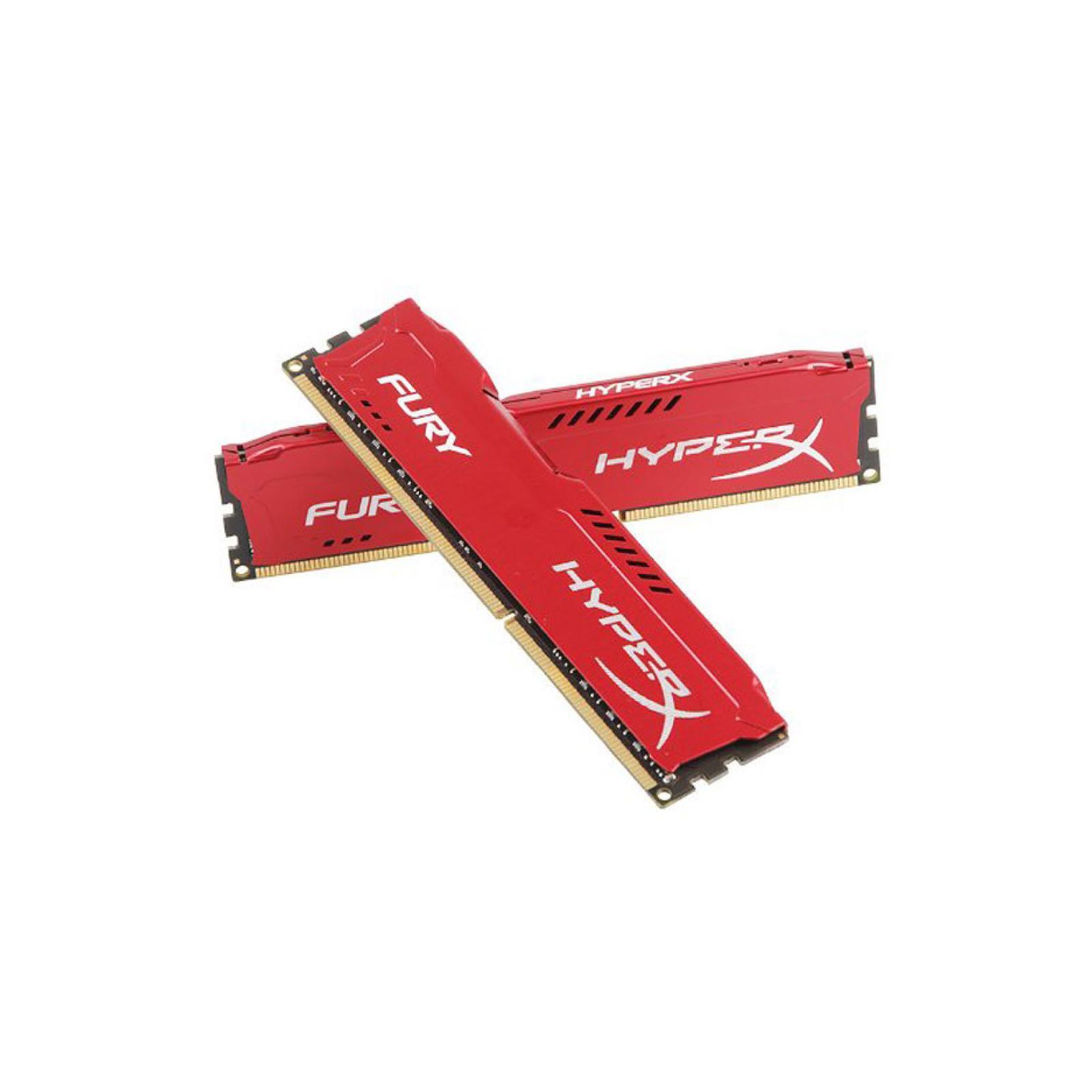 Модуль памяти для компьютера DDR4 16GB (2x8GB) 3200 MHz HyperX FURY Red HyperX (Kingston Fury) (HX432C18FR2K2/16) изображение 3