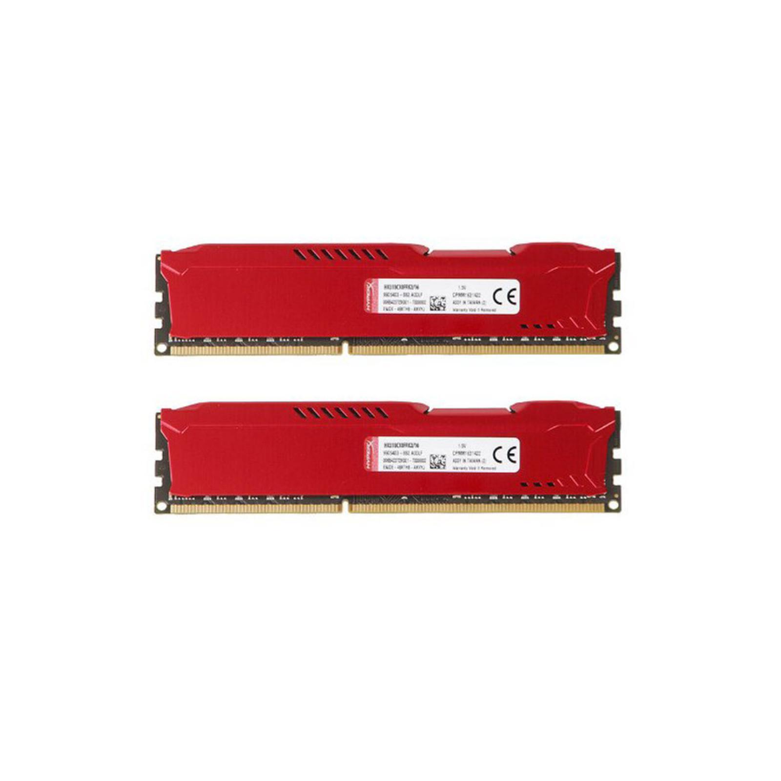 Модуль памяти для компьютера DDR4 16GB (2x8GB) 3200 MHz HyperX FURY Red HyperX (Kingston Fury) (HX432C18FR2K2/16) изображение 4