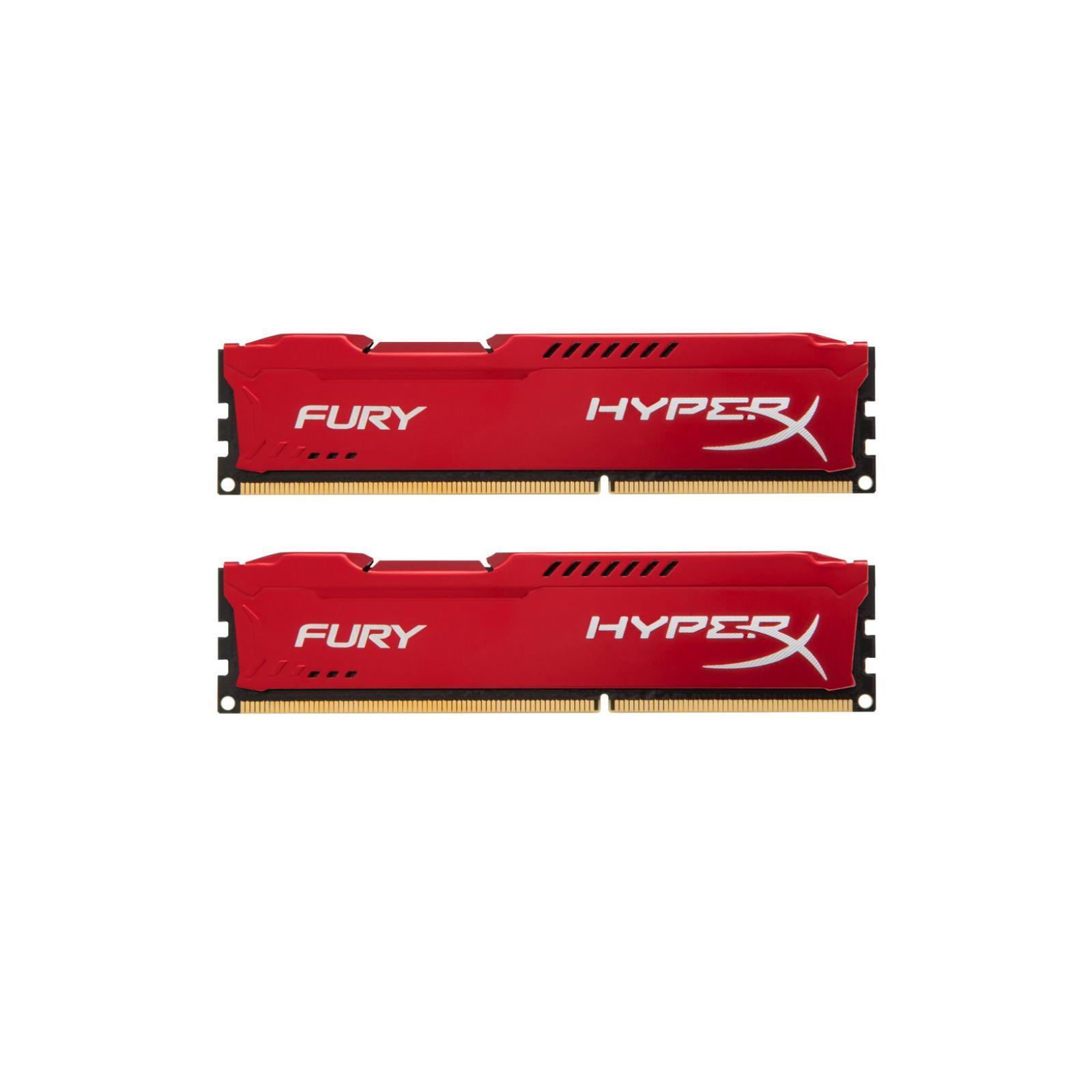 Модуль памяти для компьютера DDR4 16GB (2x8GB) 3200 MHz HyperX FURY Red HyperX (Kingston Fury) (HX432C18FR2K2/16)