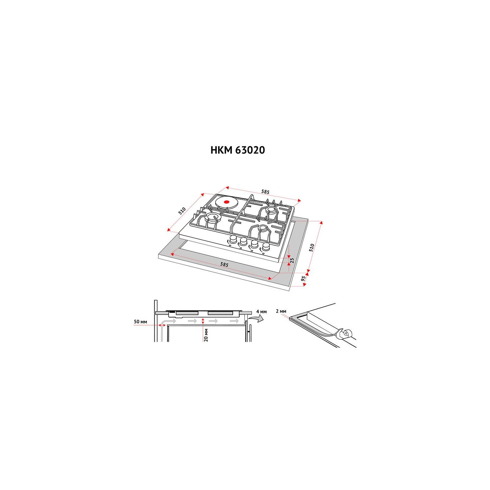 Варочная поверхность PERFELLI HKM 63020 I изображение 7