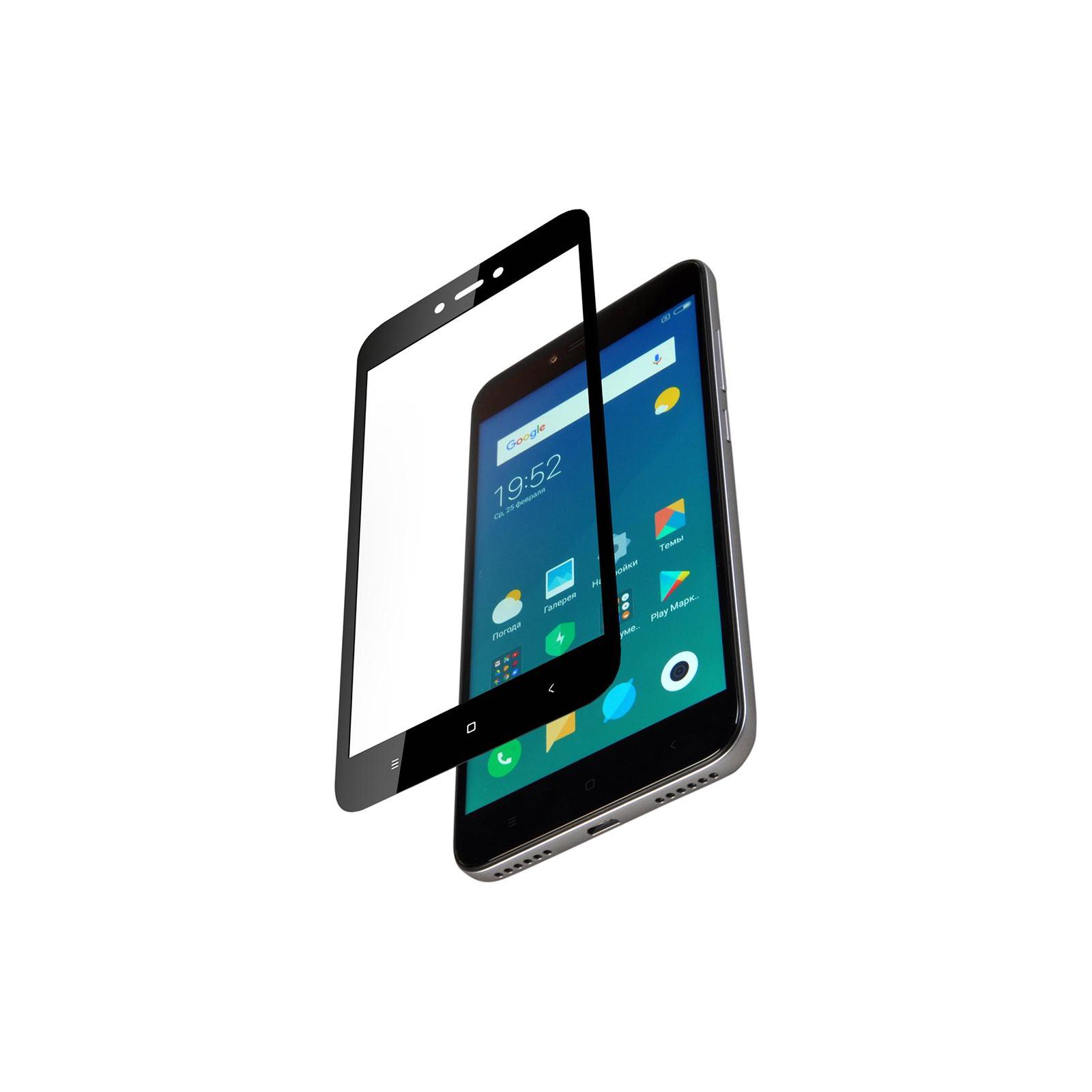 Стекло защитное Vinga для Xiaomi Redmi 5A (Black) (VTPGS-R5A) изображение 2