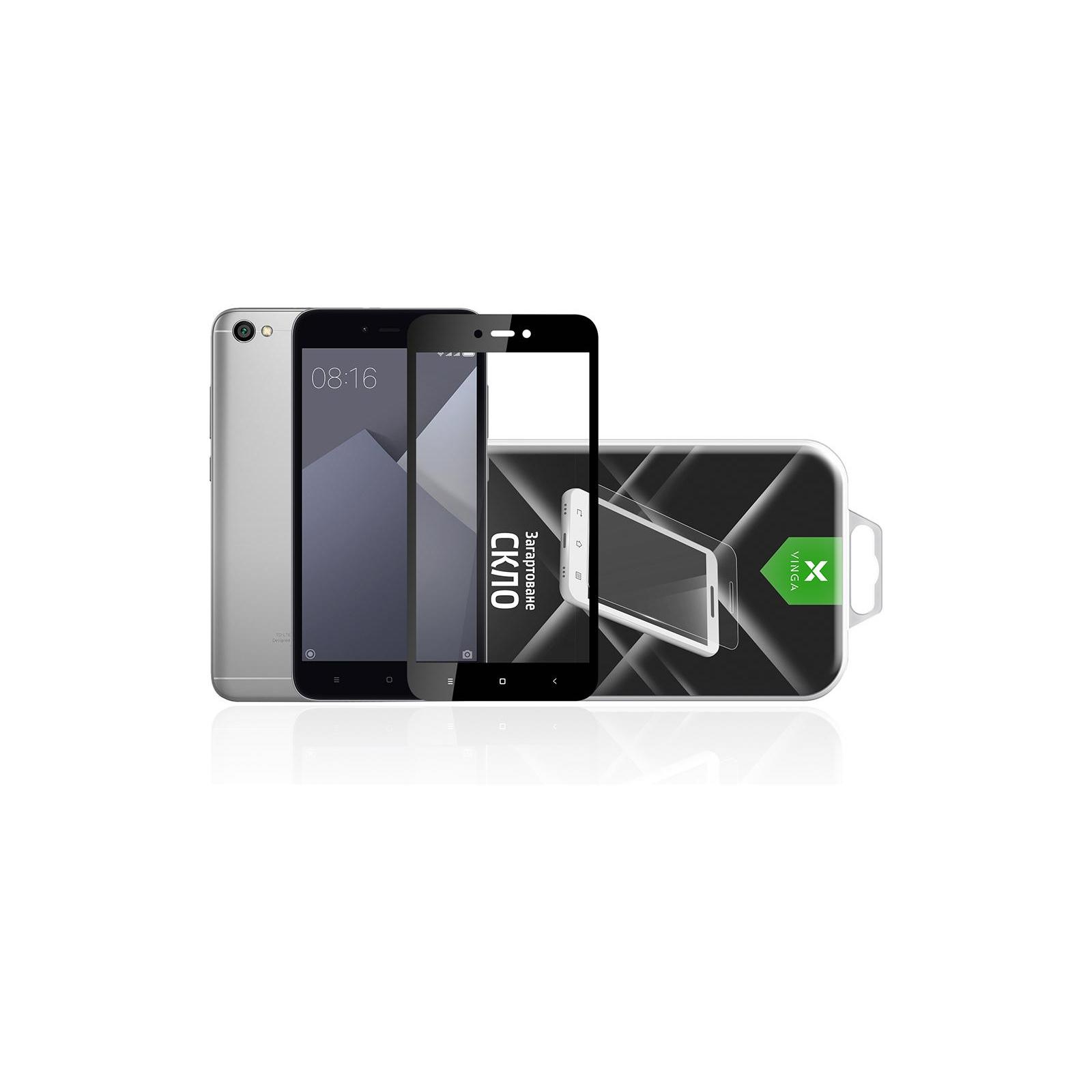 Стекло защитное Vinga для Xiaomi Redmi 5A (Black) (VTPGS-R5A) изображение 5